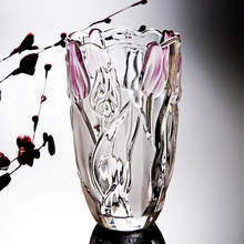 Europe glass vase Tulips table  decor CraftsTabletop flower pot Hydroponics terrarium wedding decoration