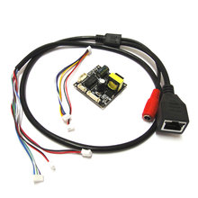Input 48V 38*38mm cctv ip camera poe module PCB board output DC12V with IP cable