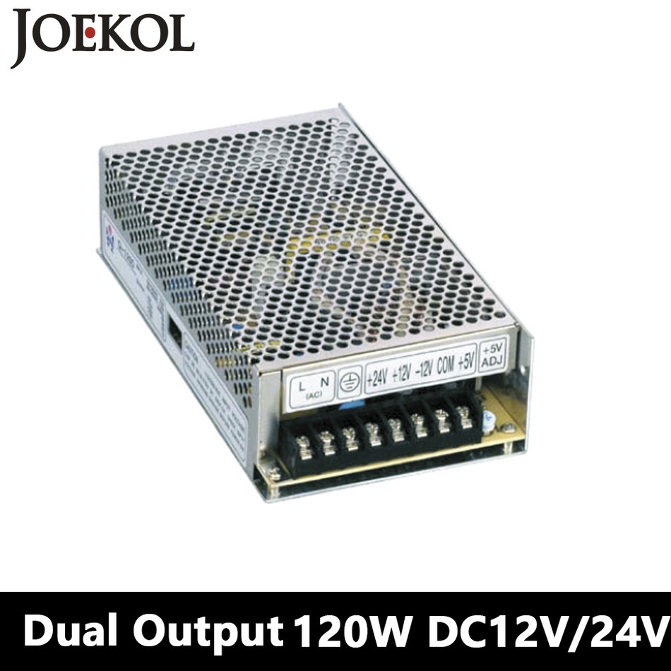 Switching Power Supply 120W 12V 24V,Double Output AC-DC Power Supply For Led Strip,transformer AC 110v/220v To DC 12v/24v led transformer 24v 60w ac dc power supply 110v 220v to 24v charger adapter for led strip led module light 3 year warranty