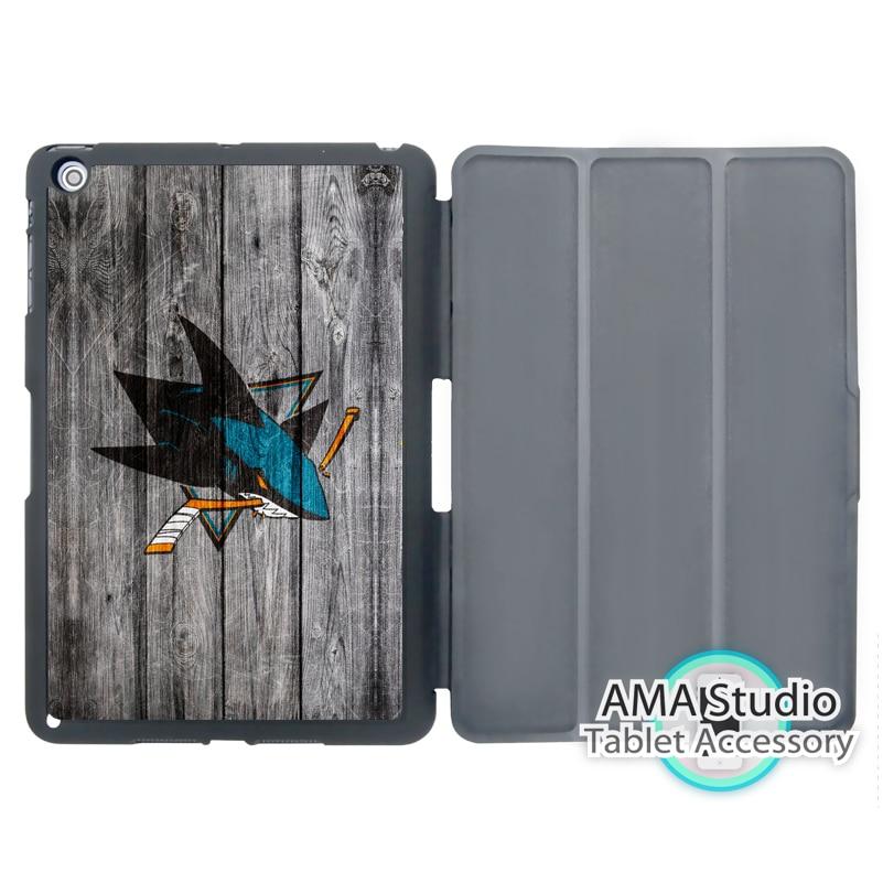 San Jose Sharks Ice Hockey Folio Cover Case For Apple iPad Mini 1 2 3 4 Air Pro 9.7 10.5 12.9 2016 2017 a1822 New