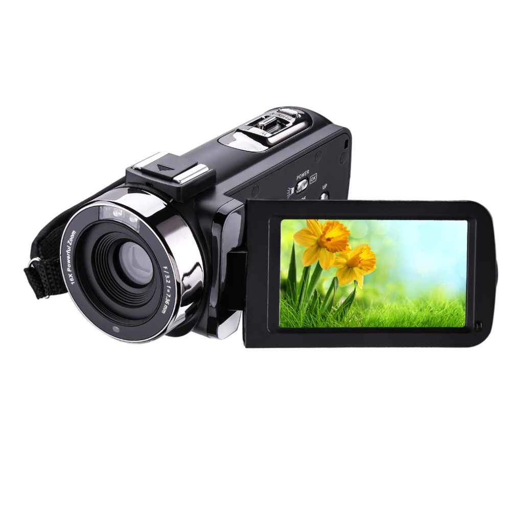 HDV-302P 3.0 Inch LCD Screen video camera profesional 1080P 24MP 16X Digital Zoom Camcorder Anti-shake Digital Video DV Camera alloyseed 2 7 inch digital camera 8x optical zoom lens 24mp hd children camcorder video recorder anti shake photo dv