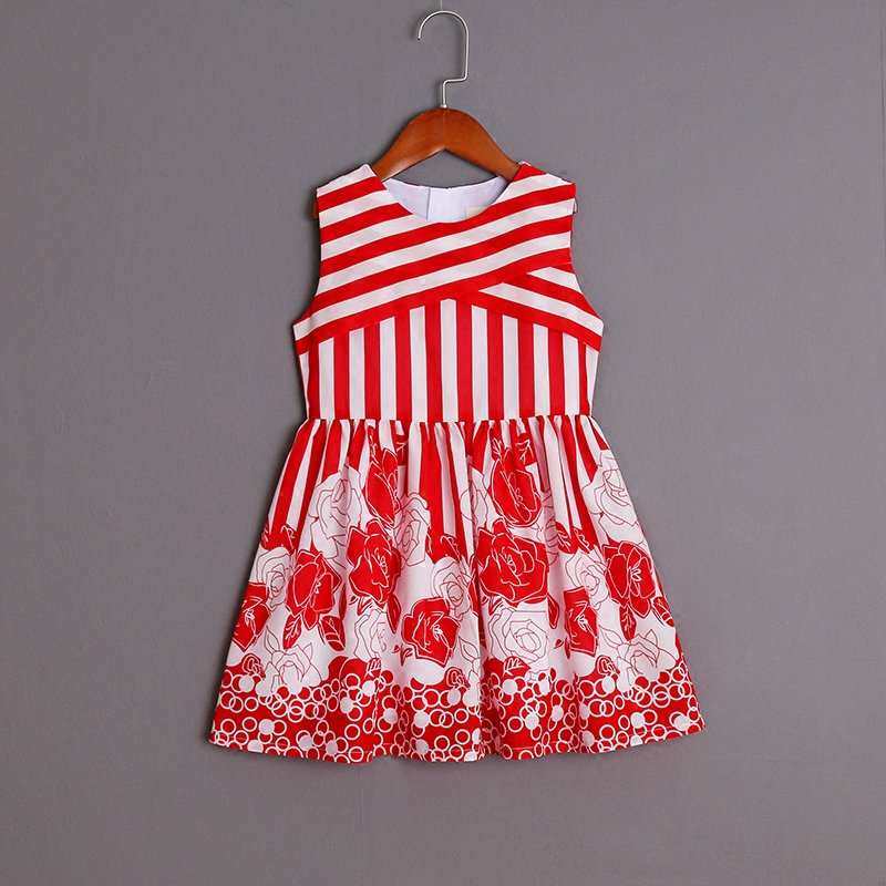 Summer women baby clothes family matching clothing kids mom girl sister look red striped flower dress mother daughter dresses 2017 summer children clothing mother and daughter clothes xl xxl lady women infant kids mom girls family matching casual pajamas