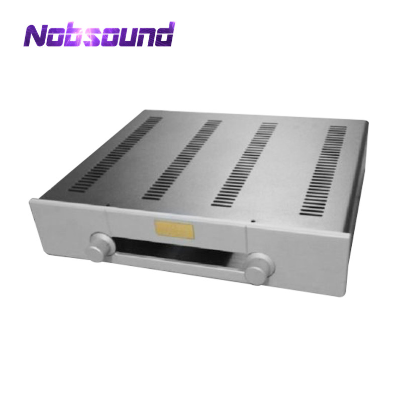 Nobsound Hi-End Pre-Amplifier Chassis DAC Case CNC Enclosure DIY Empty Box New nobsound hi end audio noise power filter ac line conditioner power purifier universal sockets full aluminum chassis