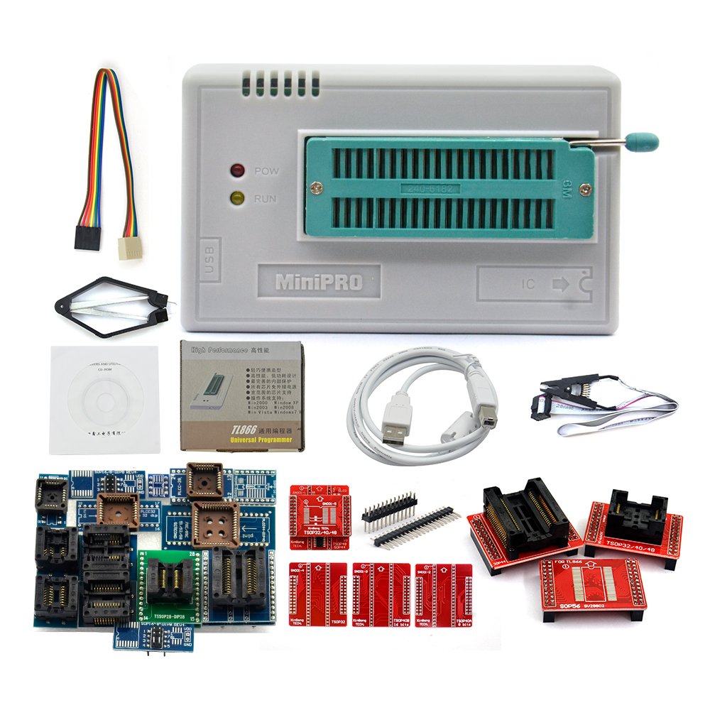 Original New Tl866a Universal Minipro Programmer 24 Adapters Test Pic Circuit 21 4