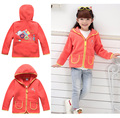 Free Shipping- children/kids/girls fleece jacket, girl's fleece coat, bright color, girl spring jacket,  for 92 to 122cm growth