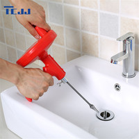 5M Kitchen Sink Toilet Sewer Cleaning Tool Pipe Blockage Cleaner Brush Bendable Metal Cleaner