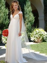 Free Shipping fashionable Sexy Chiffon Backless Wedding Dress Bridal Gown Romantic Lace Pearls Vestido de noiva