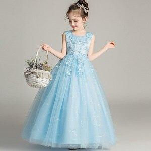 Image 3 - GirlsCampus 졸업 댄스 파티 롱 드레스 플라워 걸스 웨딩 신부 들러리 유적 파티 길이 들러리 드레스