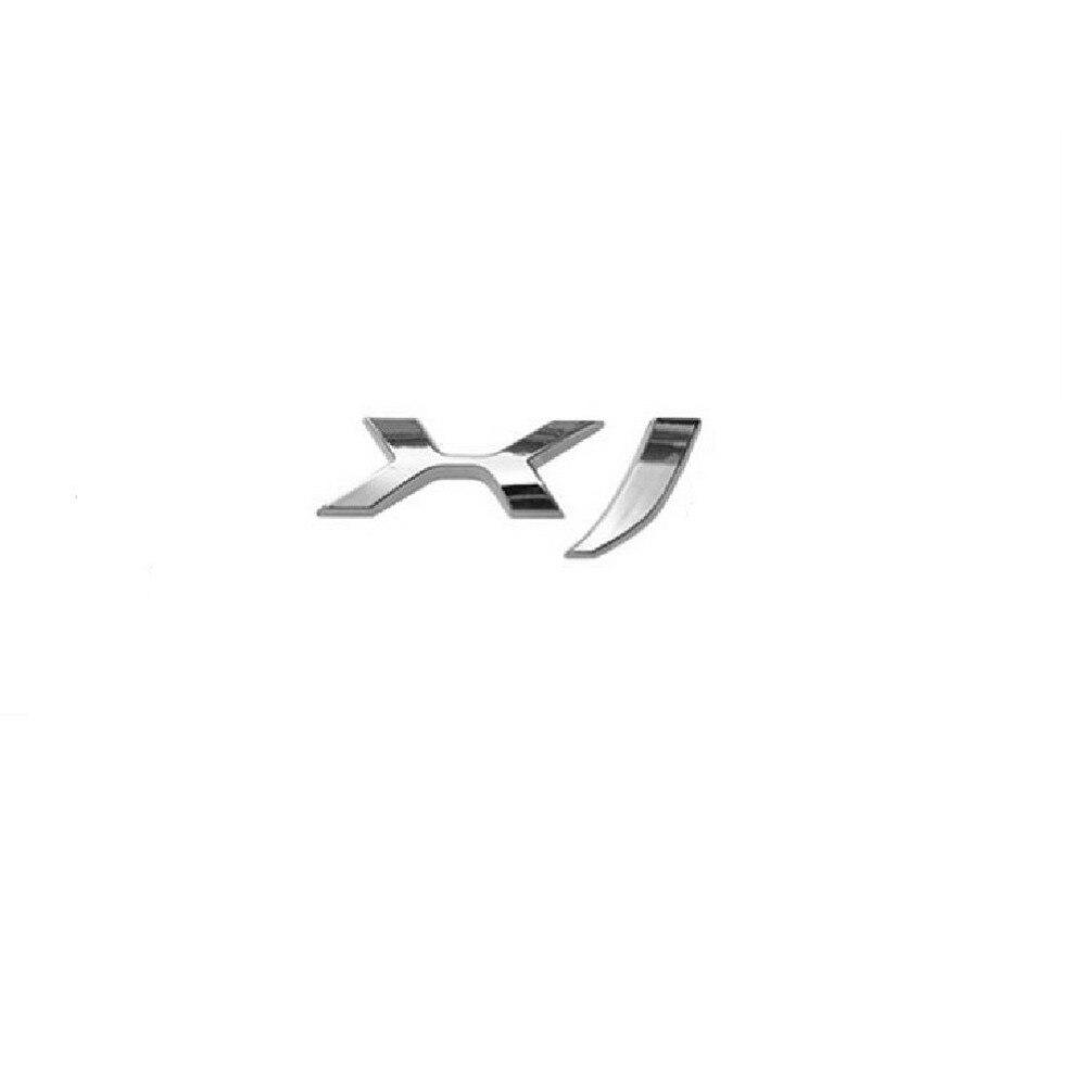 Chrome Letters X F Car LOGO Trunk Rear Badge Emblem Decal Sticker for Jaguar XF