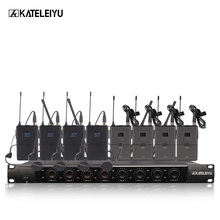 цена на System 8600D Professional Wireless Microphone 8 Channel Professional VHF 8 Stage Karaoke Microphone Handheld Wireless Microphone