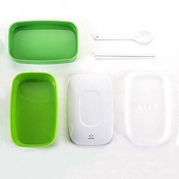 Bento Box Set | Tragbare Doppelschicht Schule Office Ourdoor Bento Box Mit Wasser Flasche Und Tasche Kunststoff Versiegelt Frische Behalten Lunchbox FH09 23
