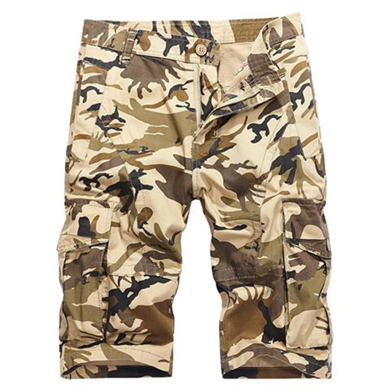 2018 Fashion Beach Shorts Men Casual Camo Camouflage Shorts Military Short Pants Male Cargo Overalls