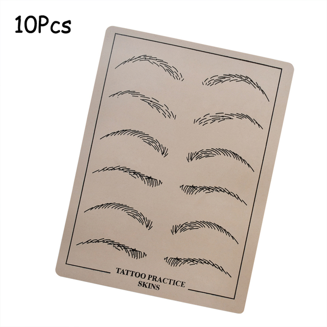 cf1bd2d8d1 Eyebrow Practice Skin Fake Artificial Skin 10Pcs Silicone for Permanent  Makeup Microblading Cosmetic Machine Pen Pigment