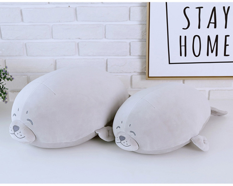 1pcs Cute Soft Animal Sea Lion Doll Baby Sleeping Pillow Marine Animals Seal Plush Toy Kids Stuffed Toys Gift (13)