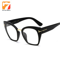 Eyeglasses Frame Women Computer Optical Vintage TF Glasses For Female Spectacle Transparent Clear Lens Armacao Oculos