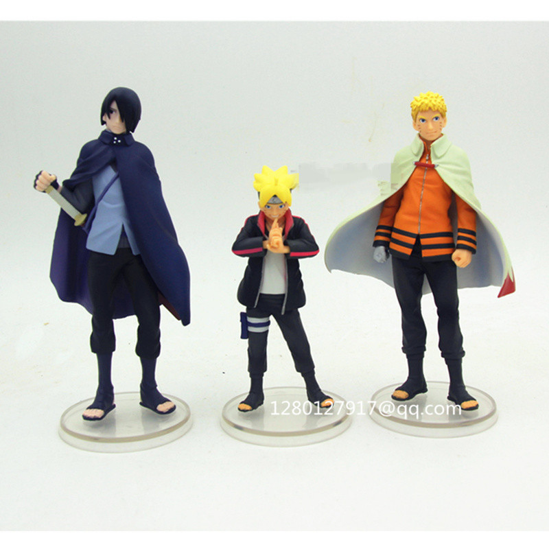 Anime BORUTO NARUTO THE MOVIE Uchiha Sasuke PVC Figure Figurine Toy No Box 16CM