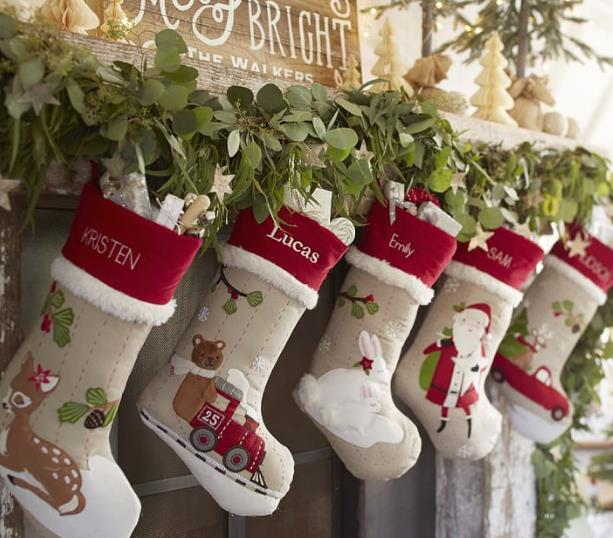 Monogrammed Christmas Stockings Part - 30: Monogrammed Christmas Stocking Personalized Christmas Snowflake Stockings  Funny Christmas Stockings Ornaments-in Stockings U0026 Gift Holders From Home U0026  Garden ...