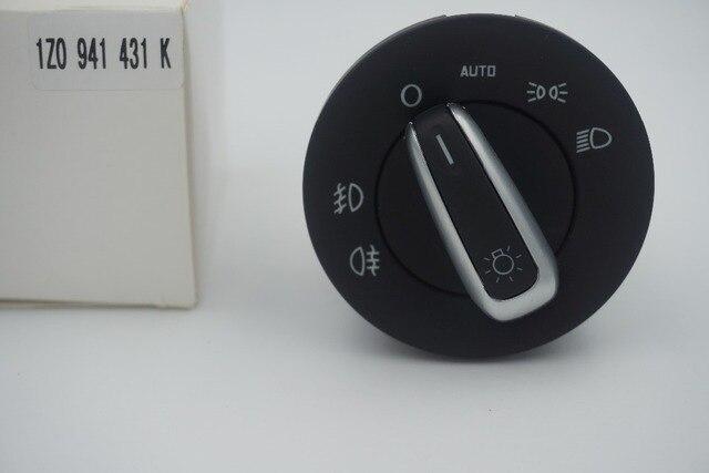 High quality Headlight Switch For SKODA OCTAVIA II 04-13 INTERRUTTORE DEVIOLUCI CROMATO AUTO 1Z0941431K 1Z0 941 431K