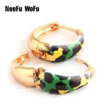 NeeFu WoFu Drop Tiger Earrings Big Earring Dangle Copper Ear Ring Drip oil Large Long Brinco Printing Oorbellen