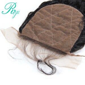 Image 3 - Riya Tóc Brazil Sâu Sóng Silk Cơ Sở Đóng Cửa Lụa Hàng Đầu Đóng Cửa Với Mái Tóc Bé Knots Ẩn Trung Phần Tóc Con Người ren Đóng Cửa