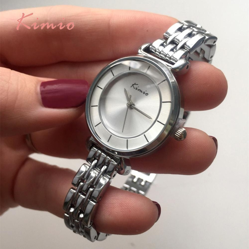 KIMIO Simple Women's Watch Armbånd Alloy Dameure Topmærke Luxury - Dameure - Foto 2
