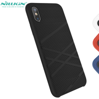 Nillkin Flex Bumper Case For Iphone 10 X Baby Skin Touch Liquid Silicone Case For Iphone