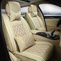 De Cuero Universal de la Cubierta de Asiento de Coche Conjunto Completo de accesorios del coche del coche amortiguador del coche Para SEAT LEON Ibiza Cordoba-estilo de dirección-rueda