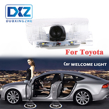 DXZ 2Pcs Car Led door logo projector welcome light laser Fit For Toyota Highlander Camry corolla Reize crown Prado Prius цена