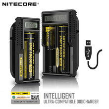100% первоначально Nitecore UM10 UM20 ЖК-дисплей Дисплей Digital Smart USB Зарядное устройство 18650 17650 17670 RCR123A 16340 14500 Зарядное устройство Батарея