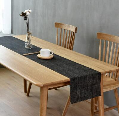 Nordic plain color table runner tea table mat TV cabinet long tablecloth insulated coffee table mat
