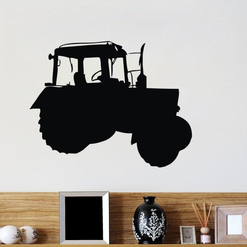 Aliexpress Buy Black Cartoon Farm Tractor Wall Stickers Home