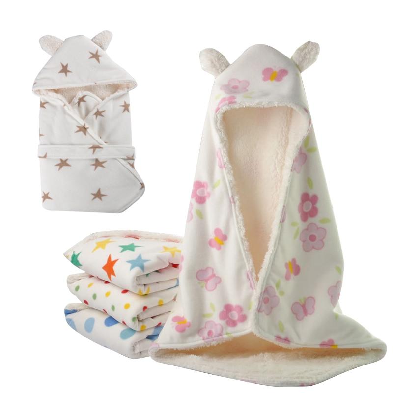 Winter Baby Swaddle Wrap Polar Fleece Baby Swaddling Blanket Infant Towel Soft Newborn Baby Swaddle Blankets infant swaddle