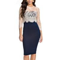 Aliexpress Uk Cheap Women Clothing China Dress Shop Sobretudo Feminino Lace Patchwork Bandage Body Con Dress