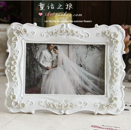 6inch white fashion vintage swing sets resin picture frame rustic photo horizontally upright free shipping