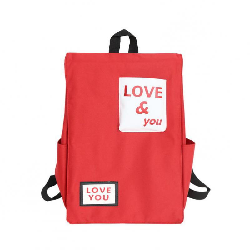 2018 New Korean Version Of Canvas, Big Backpack, Color Printing, Double Shoulders Bag, And Simple Bag Muti-function backpack