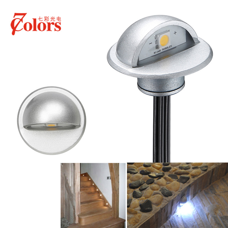 6pcs Half moon Outdoor Led Underground Light Lighting for the Garden Patio Deck Park Path Recessed Floor Lamp Step Light-in LED Underground Lamps from Lights & Lighting    1