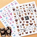 Новейшая модель; HANYI серии, 38, 39; Женские Милые мишки Тэдди дизайн 3d наклейки для ногтей задняя клей DIY деколь Декорации для дизайн ногтей сове...