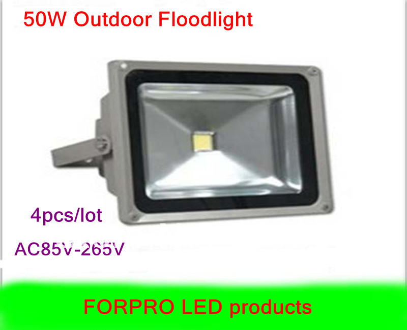 Wholesale 4pcs 50W LED floodlight Warm white Cool white AC85-265V Waterproof led flood lights outdoor lamp free shipping