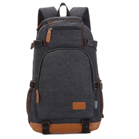 Manjianghong Canvas Bag Backpack High Quality Big Capacity Travel Men Backpack China Manufacturing Bag 1266