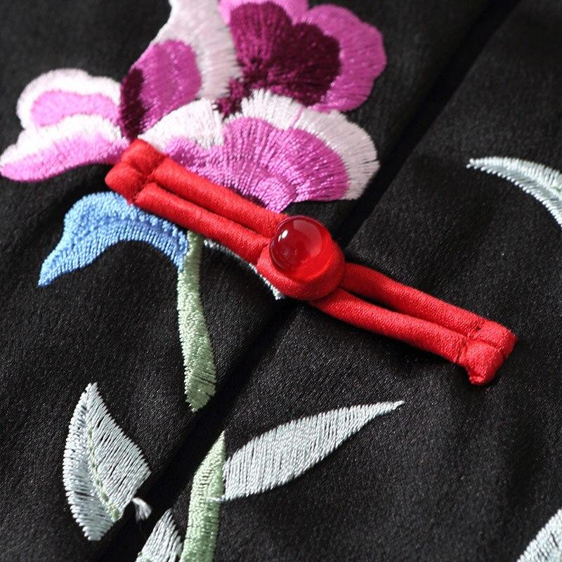 Printemps Nouveau Mode Robe Montant De Manches Longue Sans Été 2018 Broderie Élégant Rétro Col 80029 Luxe Femmes Oycp v80wPNymOn