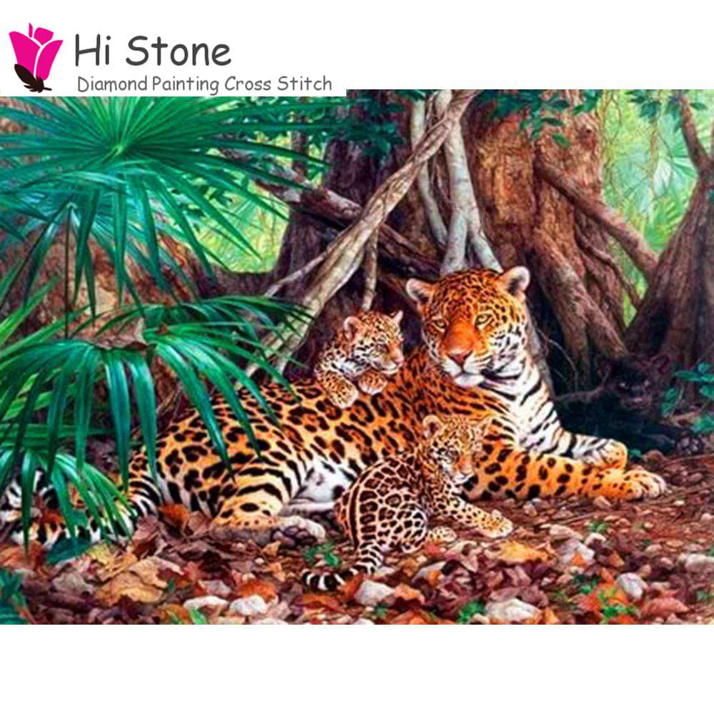 Новый алмаз живопись 5D Сделай Сам Вышивка крестом алмаз Тигр лес Главная горный хрусталь мозаика живопись Декор подарок