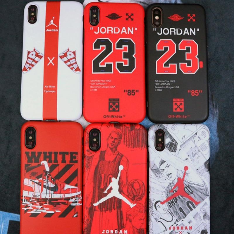 7b495bac5eb55e Air Jordan Off White OW Phone Case For iPhone 6 7 8 Plus Phone Case For iPhone  X XS 7Plus 8Plus 6 s Plus 6s Cases Coque Funda