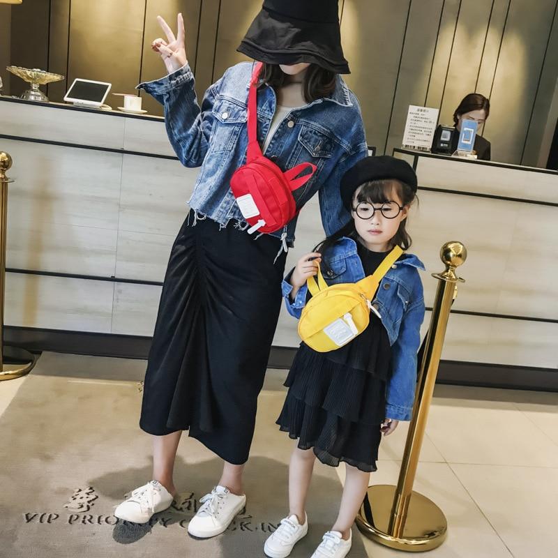 Neue Eltern-kind Taille Tasche Fanny Pack Kinder Mini Fanny Geld Taille Taschen Gürtel Pack Mädchen Frauen Crossbody-tasche Geldbörse Attraktive Mode Gepäck & Taschen