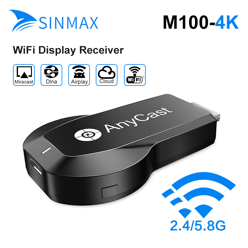 Anycast 4K Wifi Display Donge TV stick MiraScreen 2.4G/5G 4K HD Wireless HDMI Miracast TV Stick For ios mac Android wireless 4k display miracast tv dongle wireless connectivity support wifi hdmi multi display 4k receiver tv stick for hd tv stick