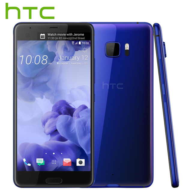 2017 оригинал htc u ультра lte мобильный телефон 4 ГБ 64 ГБ Snapdragon 821 Quad Core 5.7 inch 2560x1440px Android 7.0 16MP DualView телефон