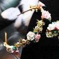 Head hoop retro baroque pearl flower garden all-match bride fine earrings female accessories