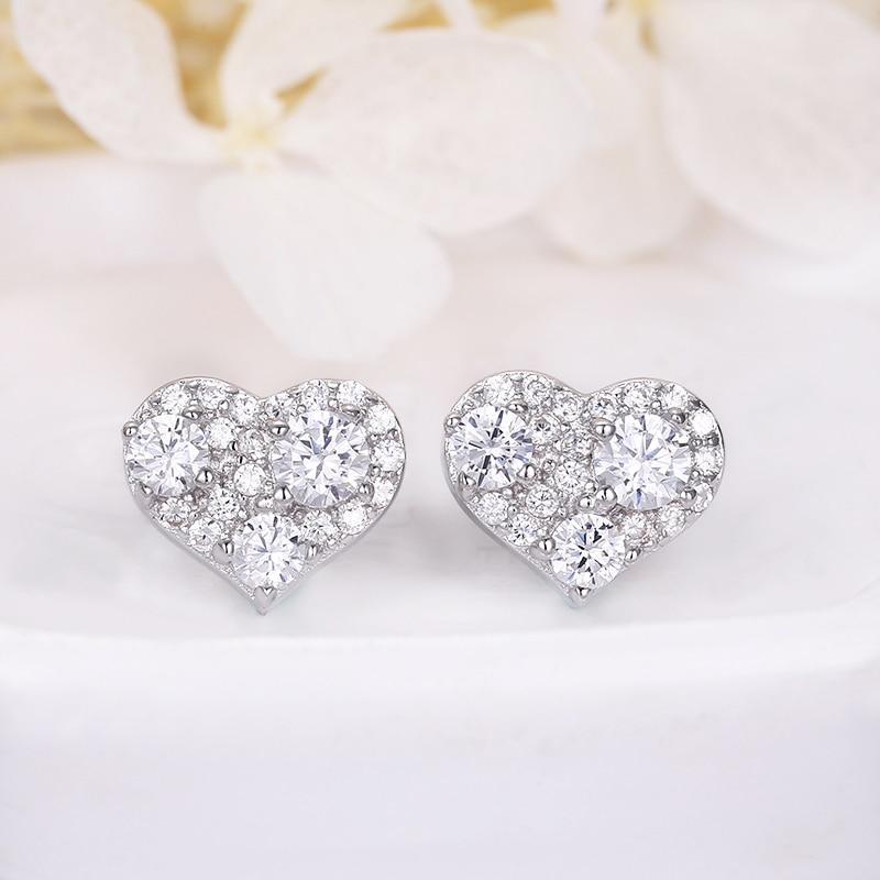 European Style 925 Sterling Silver Girls Earrings Jewelry Inlaid Stone AAA Cubic Zirconia Earrings For Women Gifts Wholesale