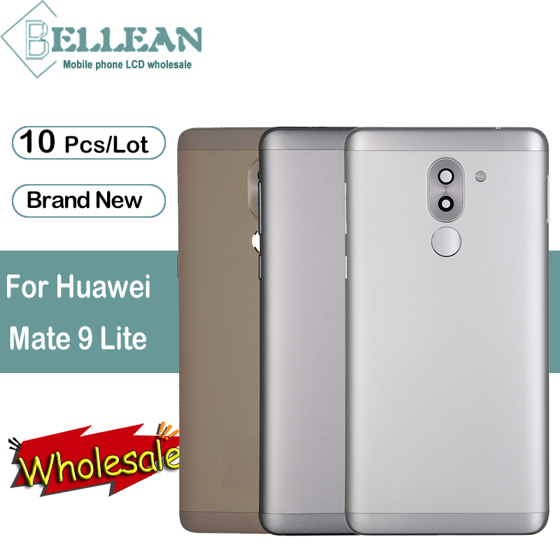 Dinamico For <font><b>Huawei</b></font> Mate 9 Lite Back Battery Cover Door Housing Case Rear Glass Part For Honor 6X <font><b>GR5</b></font> <font><b>2017</b></font> Back Cover 10Pcs image