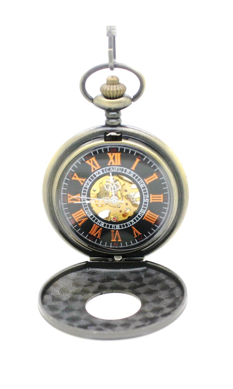6 шт./лот урожай латунь цвета выгравированы механические карманные часы. римское число бесплатная доставка