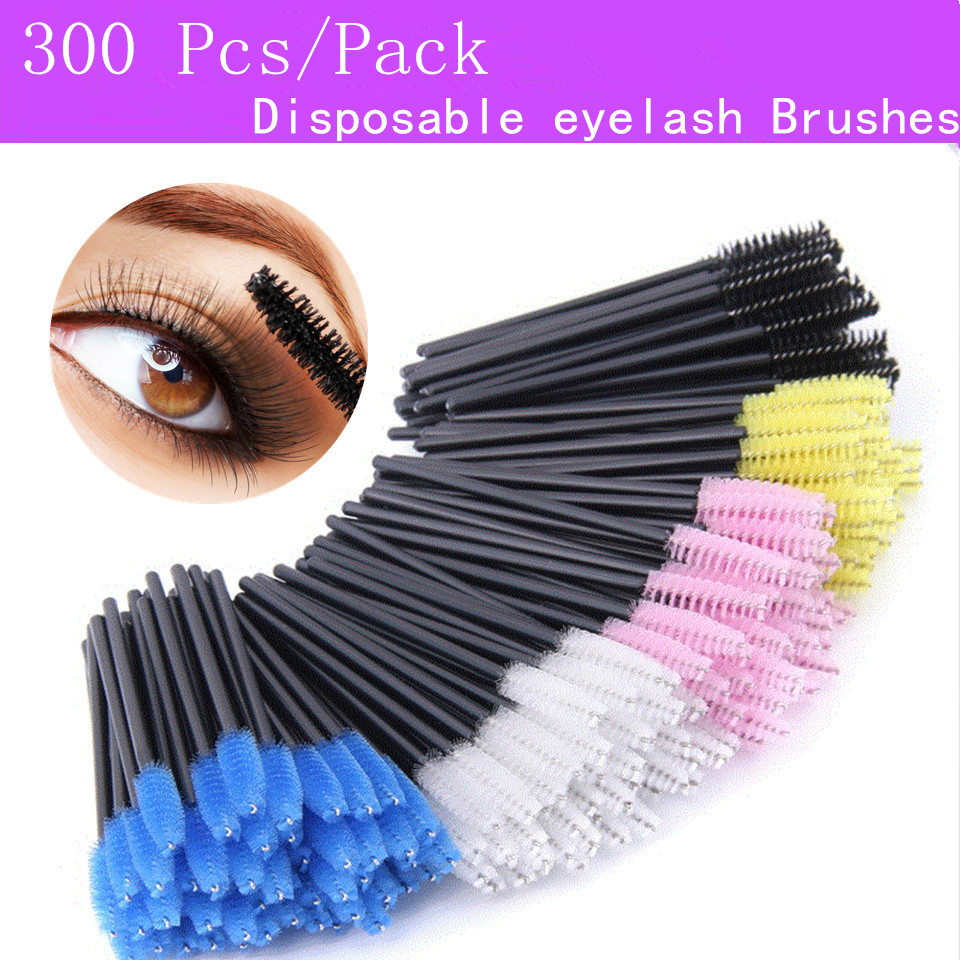 300 Pcs/Pack Eyelash Extensions Disposable Micro Lash Brushes Makeup Eye Lashes Mascara Applicator Wand Lip Makeup Tools
